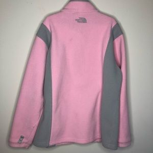The North Face Jackets & Coats - pink/grey fleece zip North Face jacket girls L